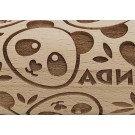 "Pottery Avenue 4.5"" Embossing Rolling Pin in the Panda Patter - SEP-210 I love Panda"