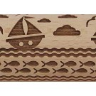 Pottey Avenue Saling on the seas with fish and other boats embossed rolling pin pattern - SEP-215 Sail Away