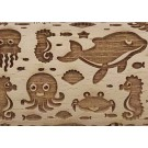 "Pottery Avenue Sea Creature 4.5"" Embossing Rolling Pin pattern - SEP-313 Ocean Blue"
