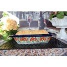 "Pottery Avenue Champagne 17"" Rectangular Stoneware Baker 