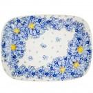 Pottery Avenue Stoneware Large Rectangular Platter - V121-A116 AFFECTION
