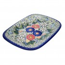 Pottery Avenue Stoneware Large Rectangular Platter - V121-A510 EXOTIC