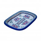 Polish Pottery Stoneware Rectangular Platter (MD) - V120-U289 SIMPLE FOLK