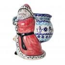 Pottery Avenue Stoneware Santa with Bag - V197-C312 CLASSIC SNOWMAN