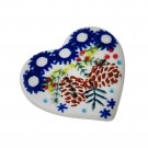 Pottery Avenue SWISS SEASON Stoneware Magnet Heart - V301-C309 SWISS SEASON