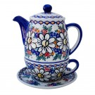 Pottery Avenue 3-pc Stoneware Tea For One Set - V380-A110 REJUVENATE