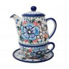 Pottery Avenue 3-pc Stoneware Tea For One Set - V380-A300 ADORABLE