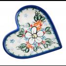 Pottery Avenue Stoneware Heart Plate - V392-A300 ADORABLE
