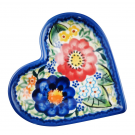 Pottery Avenue Stoneware Heart Plate - V392-A510 EXOTIC