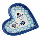 Pottery Avenue Stoneware Heart Plate - V392-C312 CLASSIC SNOWMAN