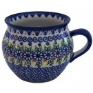 Polish Pottery Vena Joann 16oz Bubble Stoneware Mug
