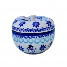 Pottery Avenue Stoneware Apple Baker - V410-C312 CLASSIC SNOWMAN