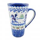 Pottery Avenue Stoneware Latte Travel Mug - V468-A231 SNOWMAN UNIKAT