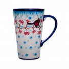 Pottery Avenue Stoneware Travel Latte Mug - V468-U340 Cardinal