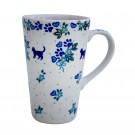 Pottery Avenue Vena Stoneware Travel Mug - V468-U120 MEOW