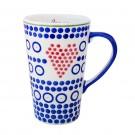 Pottery Avenue Vena's Stoneware Latte Love Mug - V493-C060 I HEART U