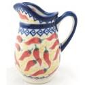 Polish Pottery Vena RED HOT 4� Stoneware Pitcher | UNIKAT