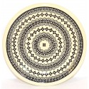 "Polish Pottery BLACK DIAMOND 9.75"" Luncheon-Dinner Stoneware Plate 