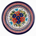"Polish Pottery BUTTERFLY MERRY MAKING 9.75"" Stoneware Plate"