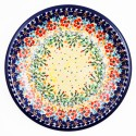 "Polish Pottery FLOWERING SPLENDOR 9.75"" Stoneware Plate"