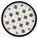 "Polish Pottery SWEETHEART 9.75"" Luncheon-Dinner Stoneware Plate | ARTISAN"