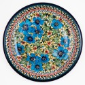 "Polish Pottery FIELD OF DREAMS 9.75"" Luncheon-Dinner Stoneware Plate 