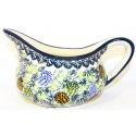 Polish Pottery PINECONE 2-Cup Stoneware Gravy Boat | ARTISAN