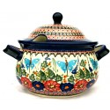 Polish Pottery BUTTERFLY MERRY MAKING 12.5-Cup Stoneware Soup Tureen | UNIKAT