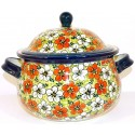 POLISH POTTERY STONEWARE RED BACOPA | SOUP TUREEN