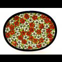 "Polish Pottery RED BACOPA 11.5"" Oval Stoneware Platter | UNIKAT"