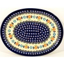 "Polish Pottery HERITAGE 11.5"" Oval Stoneware Platter 