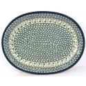 "Polish Pottery IVY 11.5"" Oval Stoneware Platter | CLASSIC"