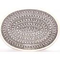 "Polish Pottery ELEGANT TIMES 11.5"" Oval Stoneware Platter | CLASSIC"