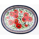"Polish Pottery BELLISSIMA 11.5"" Oval Stoneware Platter   EX-UNIKAT"