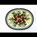 "Polish Pottery WARM GLORY 11.5"" Oval Stoneware Platter | EX-UNIKAT"