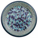 "Polish PotterY FORGET ME NOT'S 11"" Stoneware Dinner Plate"