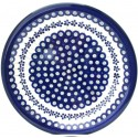 "Polish Pottery FLOWERING PEACOCK 11"" Stoneware Dinner Plate 