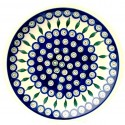 "Polish Pottery EYE OF THE PEACOCK 11"" Stoneware Dinner Plate 