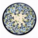 "Polish Pottery TRUE BLUES 11"" Stoneware Dinner Plate 