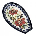 "Polish Pottery LOVE BLOSSOMS 5"" Stoneware Spoon Rest 