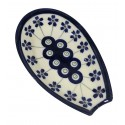 """Polish Pottery FLOWERING PEACOCK 5"""" Stoneware Spoon Rest 