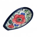 "Polish Pottery BELLISSIMA 5"" Stoneware Spoon Rest | EX-UNIKAT"