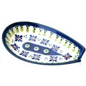"Polish Pottery 5"" DROPS OF JOY Spoon Rest 