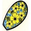 "Polish Pottery CITRINE 5"" Stoneware Spoon Rest 