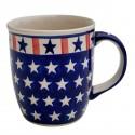 Polish Pottery AMERICANA 12-oz Stoneware Mug | CLASSIC