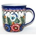 Polish Pottery BUTTERFLY MERRY MAKING 12-oz Stoneware Mug   UNIKAT