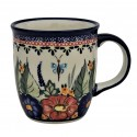 Polish Pottery BUTTERFLY MERRY MAKING 12-oz Stoneware Mug | UNIKAT