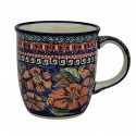 Polish Pottery CHERISHED FRIENDS 12-oz Stoneware Mug | UNIKAT