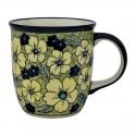 Polish Pottery BLUE CITRINE 12-oz Stoneware Mug | UNIKAT