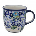 Polish Pottery TRUE BLUES 12-oz Stoneware Mug | ARTISAN